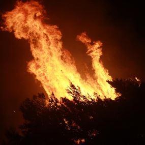 قوى الامن توقف 4 أشخاص تسببوا بنشوب حرائق