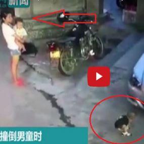 فيديو صادم لسيدة رفضت انقاذ طفل صغير دهسته سيارة!