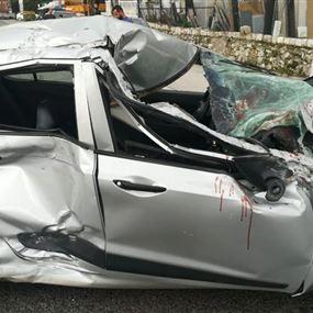 جريح جراء حادث سير في البوار