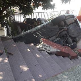 توفيت الأم متأثرة بجروحها اثر حادث سير مروع