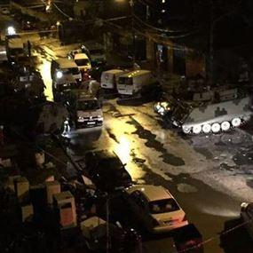 إطلاق نار والقاء قنابل خلال مداهمة للجيش في باب التبانة