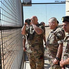 بالصور: قائد الجيش يتفقد مراكز فوج الحدود البرية الرابع