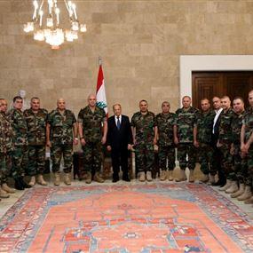 رئيس الجمهورية يلتقي قادة عملية فجر الجرود