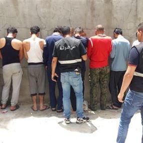 أمن الدولة يوقف 10 سوريين أثناء دهمه الشهابية